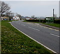 SN9925 : Towards a bend in the A470, Libanus, Powys by Jaggery