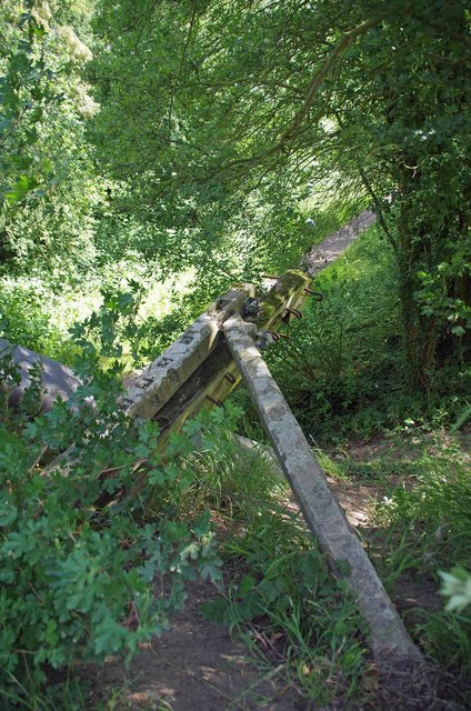 Fallen Fencepost on Brook St