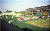 TQ2472 : Wimbledon 1988 - Courts 15, 16 & 17 by Barry Shimmon