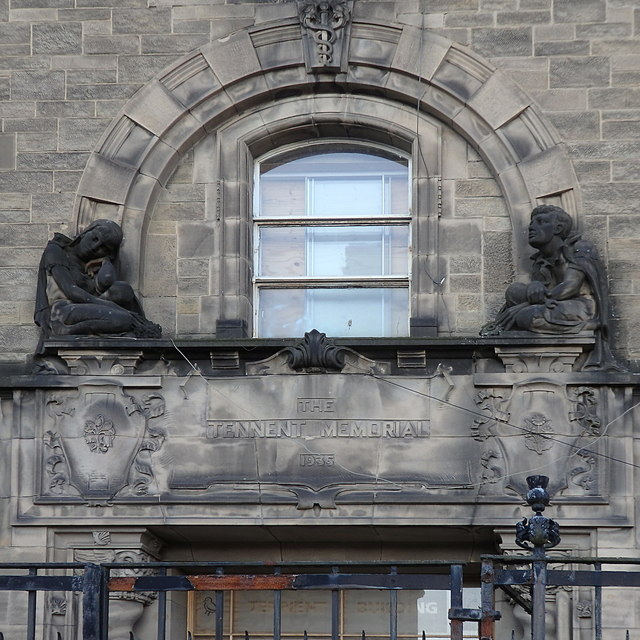 Portico, former Tennent Memorial Institute of Ophthalmology, Glasgow