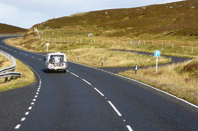 Layby on the A970 near Smirnadale Water