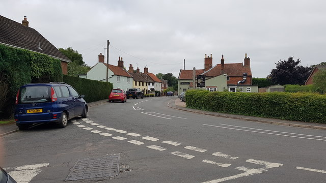 Junction of Mill Lane and Yarmouth Road, Kirby Cane