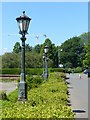 NS5666 : Cast iron lamps adjacent to Kelvingrove Museum by Alan Murray-Rust