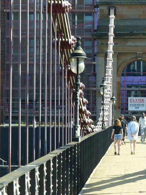 South Portland Street Suspension Footbridge – detail