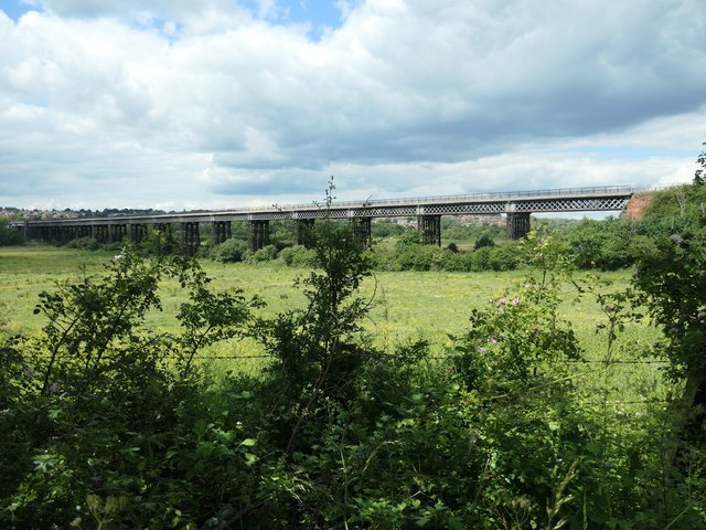 Bennerley Viaduct, from the east