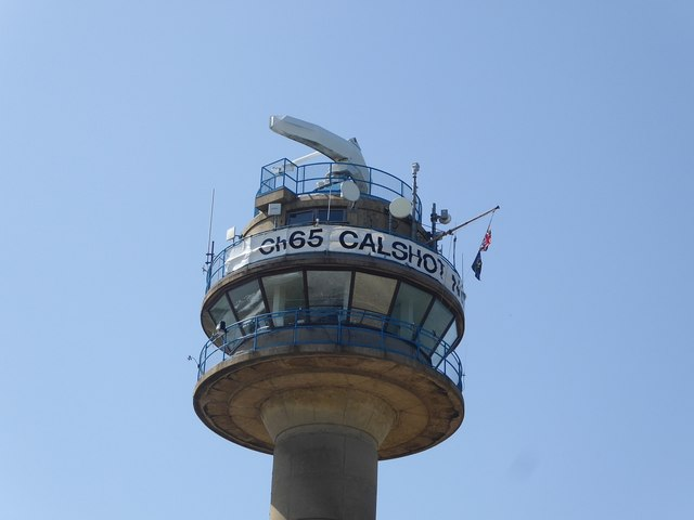 Top of Calshot National Coastwatch Institution tower