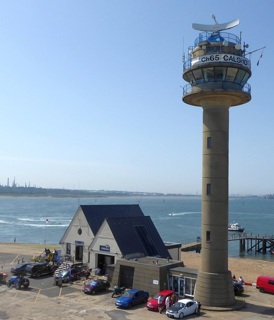 Calshot Tower and RNLI station