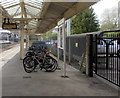 SU4766 : Cycle racks on Newbury railway station by Jaggery