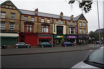 SJ3787 : Shops on Aigburth Road, Liverpool by Ian S