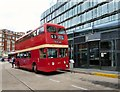 SJ8498 : Heritage bus at Shudehill by Gerald England