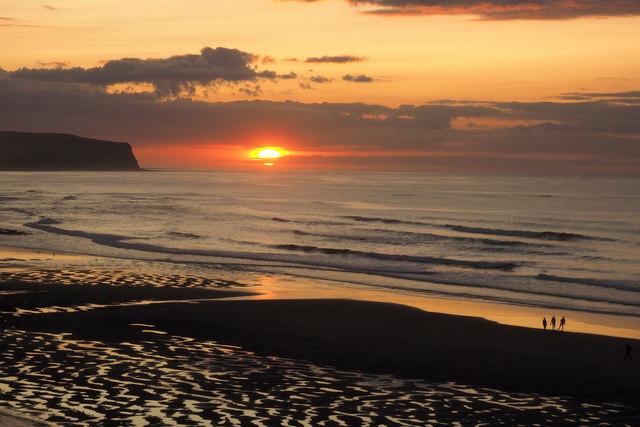 Sunset over Sandsend Wyke