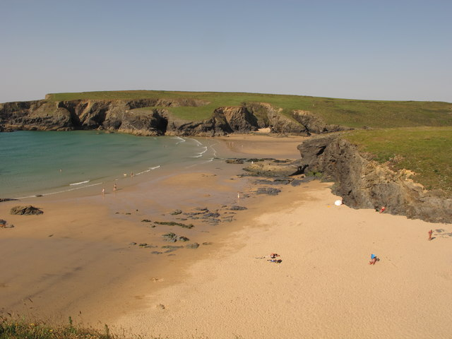 Porthcothan Bay from south