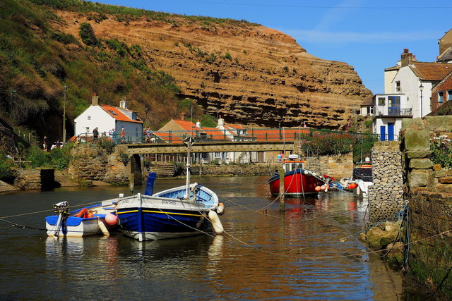 Staithes Beck at high tide