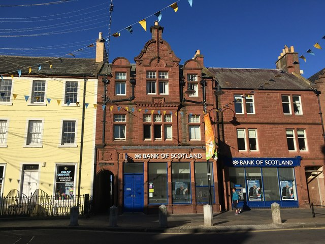 Bank of Scotland in Dunbar High Street