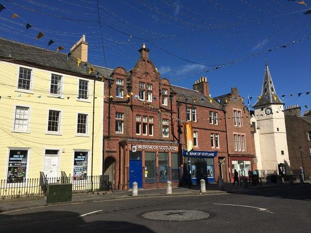 Dunbar High Street in Evening Sunshine