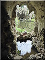 TQ0959 : Looking out from the Crystal Grotto at Painshill by Marathon