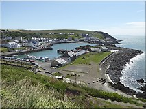 NW9954 : Portpatrick Harbour and village by Oliver Dixon