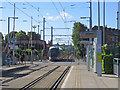 SK5543 : Old Basford: David Lane tram stop by John Sutton