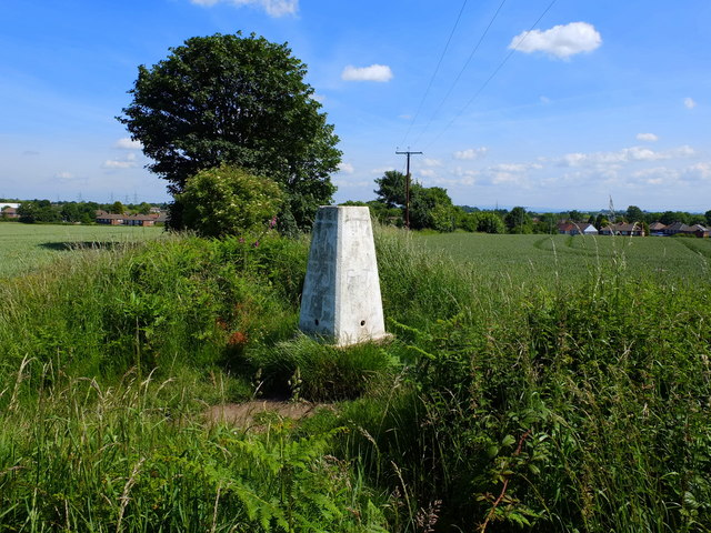 Ordnance Survey Trig Pillar on Blundell's Hill, Whiston