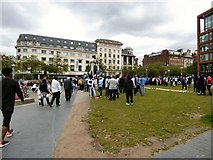 SJ8498 : Sudanese protesters in Piccadilly Gardens by Gerald England
