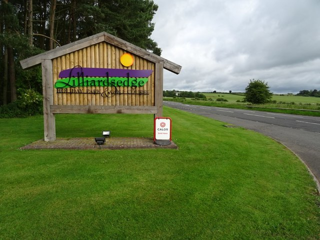 Entrance sign, Lilliardsedge Holiday Park