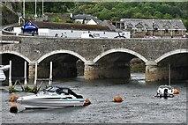SX2553 : East Looe bridge to West Looe by Michael Garlick