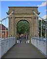 SK5737 : Photographing Wilford Suspension Bridge on a summer evening by John Sutton