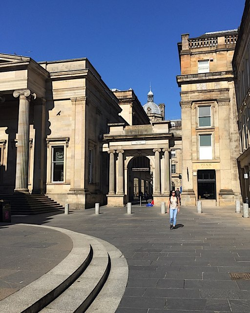 Northwest corner of Royal Exchange Square, Glasgow
