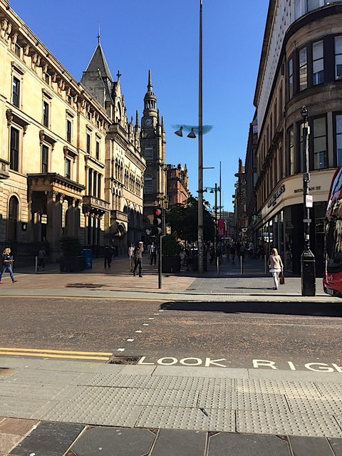 North on Buchanan Street, Glasgow