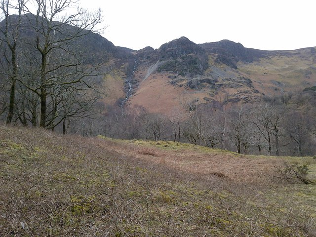 View of the Crags West of Borrowdale