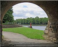 SK5838 : Trent Bridge and Victoria Embankment by John Sutton