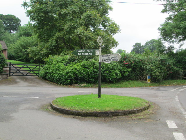 Signpost at Ibberton