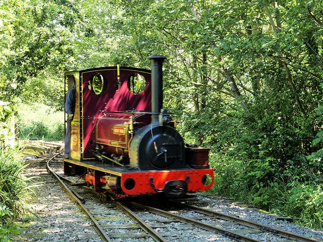 Hunslet Saddle Tank Locomotive on the West Lancashire Light Railway