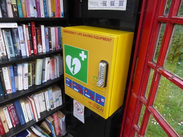 Defibrillator and books