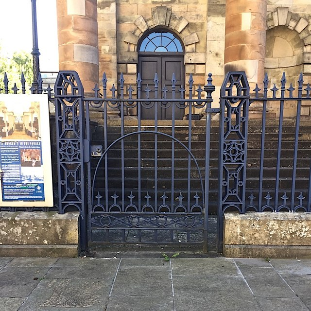 Cast-iron gate, St Andrew's in the Square, James Morrison Street, Glasgow