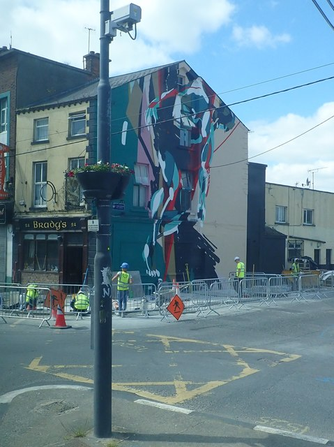 Mural at Brady's Bar, Church Street, Dundalk