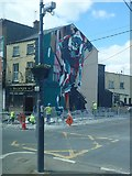 J0407 :  Mural at Brady's Bar, Church Street, Dundalk by Eric Jones