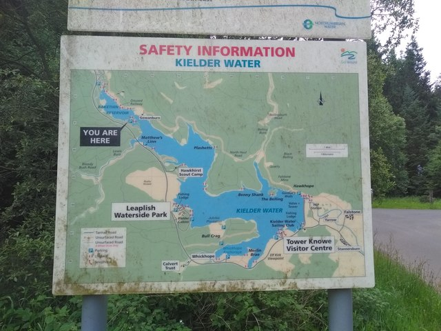 Safety Information - Kielder Water - Sign