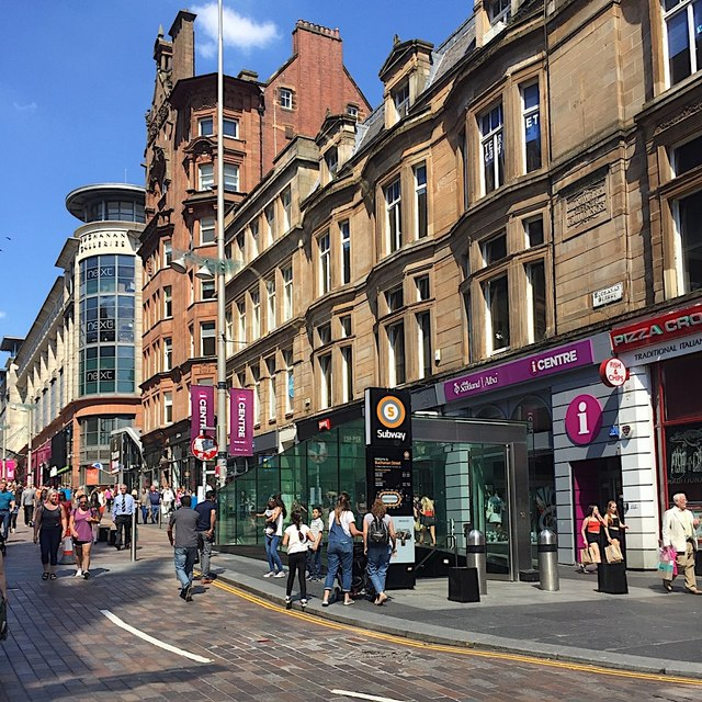 North on Buchanan Street, Glasgow
