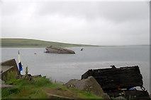 ND4798 : Blockship beside Churchill Barrier No. 3, Burray by Mike Pennington