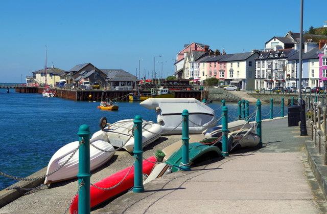Slipway with small boats, Aberdyfi
