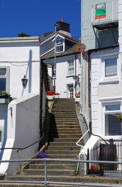 Steps by the Britannia Inn, Aberdyfi