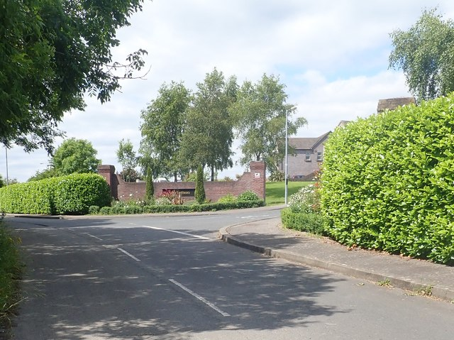 The entrance into the Ath Lethan Housing Estate from Racecourse Road