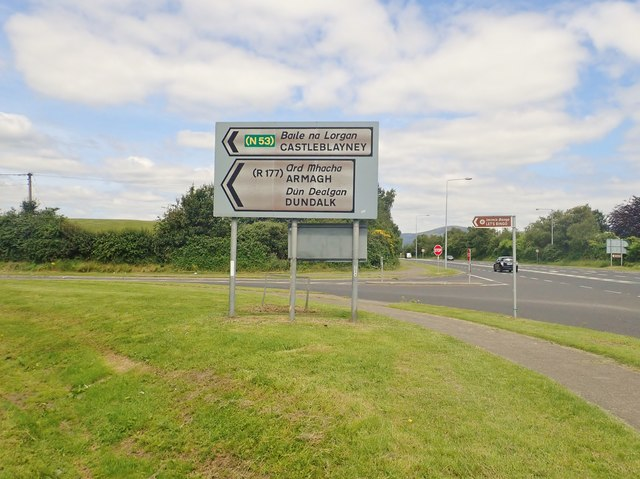 The Racecourse Road junction on the N53