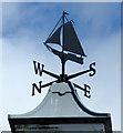 NS1680 : Ardnadam Pier weather vane by Thomas Nugent