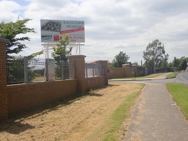 Entrance to the Racecourse Meadows Housing Estate