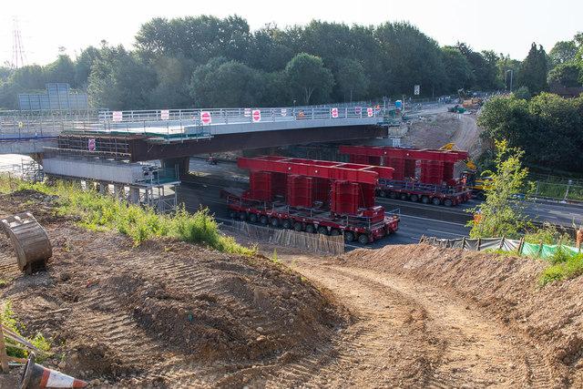 New Romsey Road bridge in position