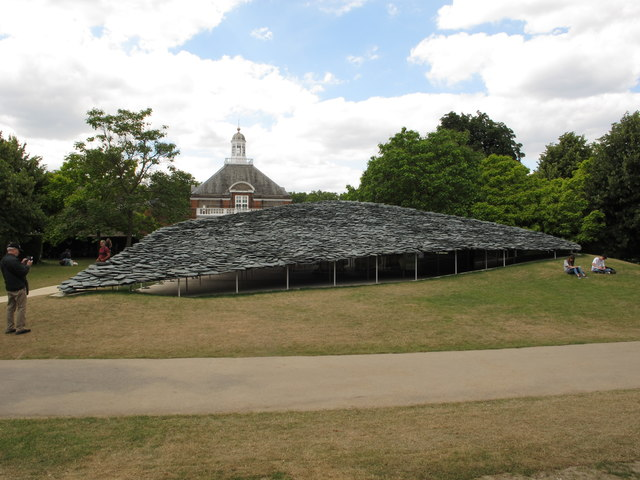 Serpentine Gallery Pavilion 2019, showing roof and mound