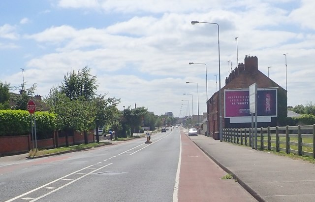 View South-southwest in the direction of Dundalk town centre along the R132