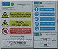 NX4856 : Wind turbine warning notice by M J Richardson